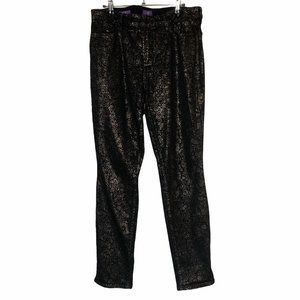 NYDJ ALINA Legging Black Gold Lift Tuck Tech 14